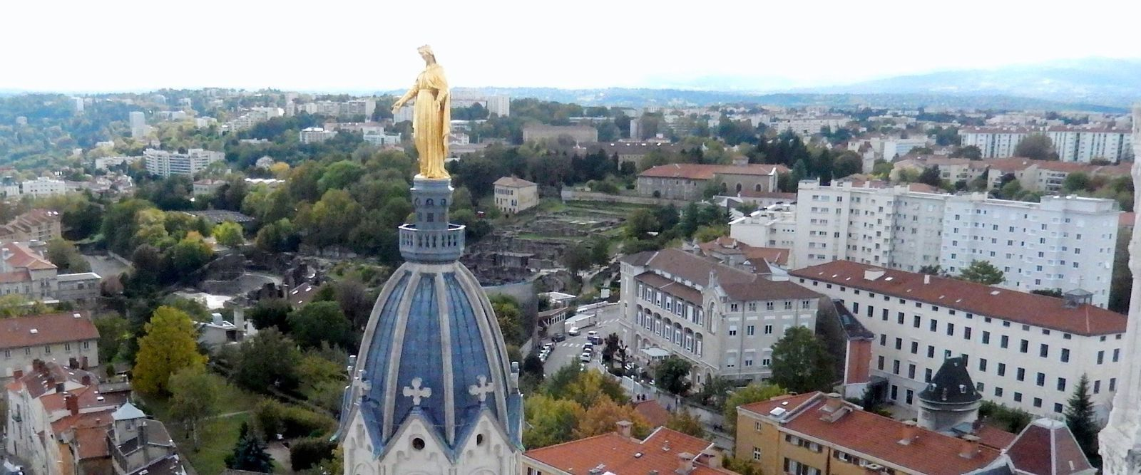Du haut  de la  terrasse St Michel vers le sud
