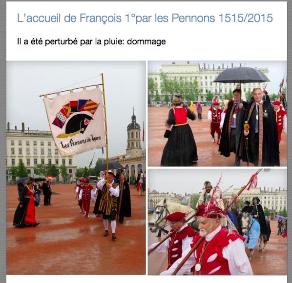 Les Pennons 2015 (1)  : Entrée de François 1°
