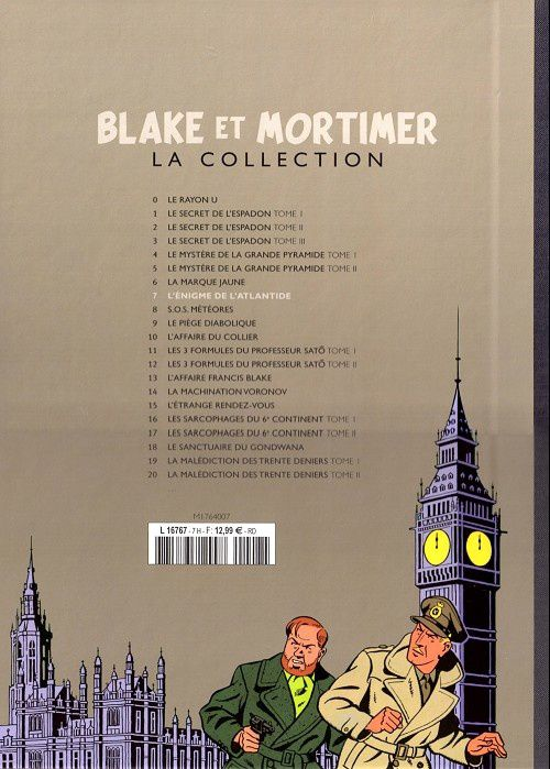Blake et Mortimer, la collection Hachette : L'Enigme de l'Atlantide
