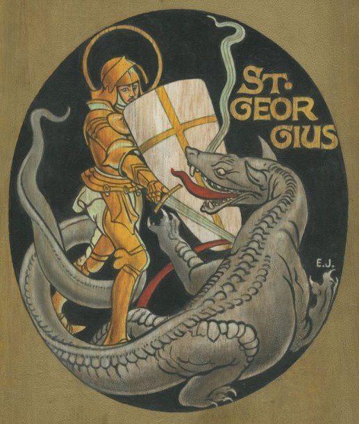 Saint Georges terrassant le dragon, par E.P. Jacobs !