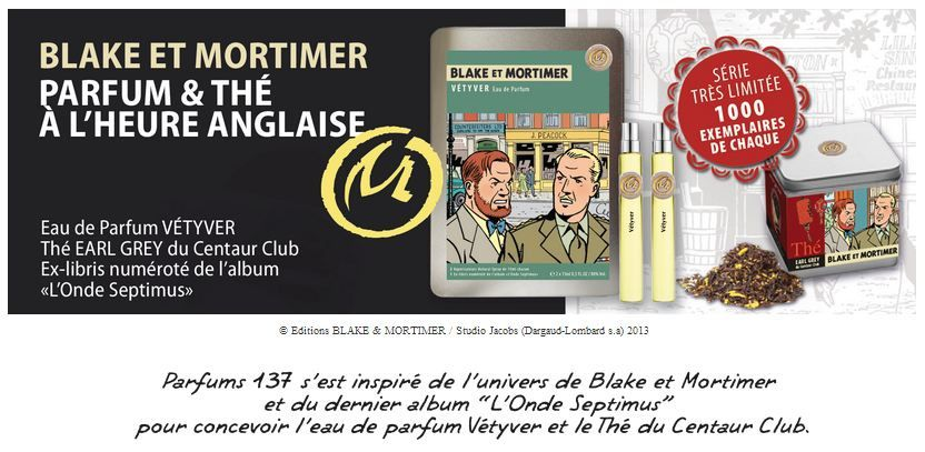 Les Parfums et Thés de Blake et Mortimer ! So British !