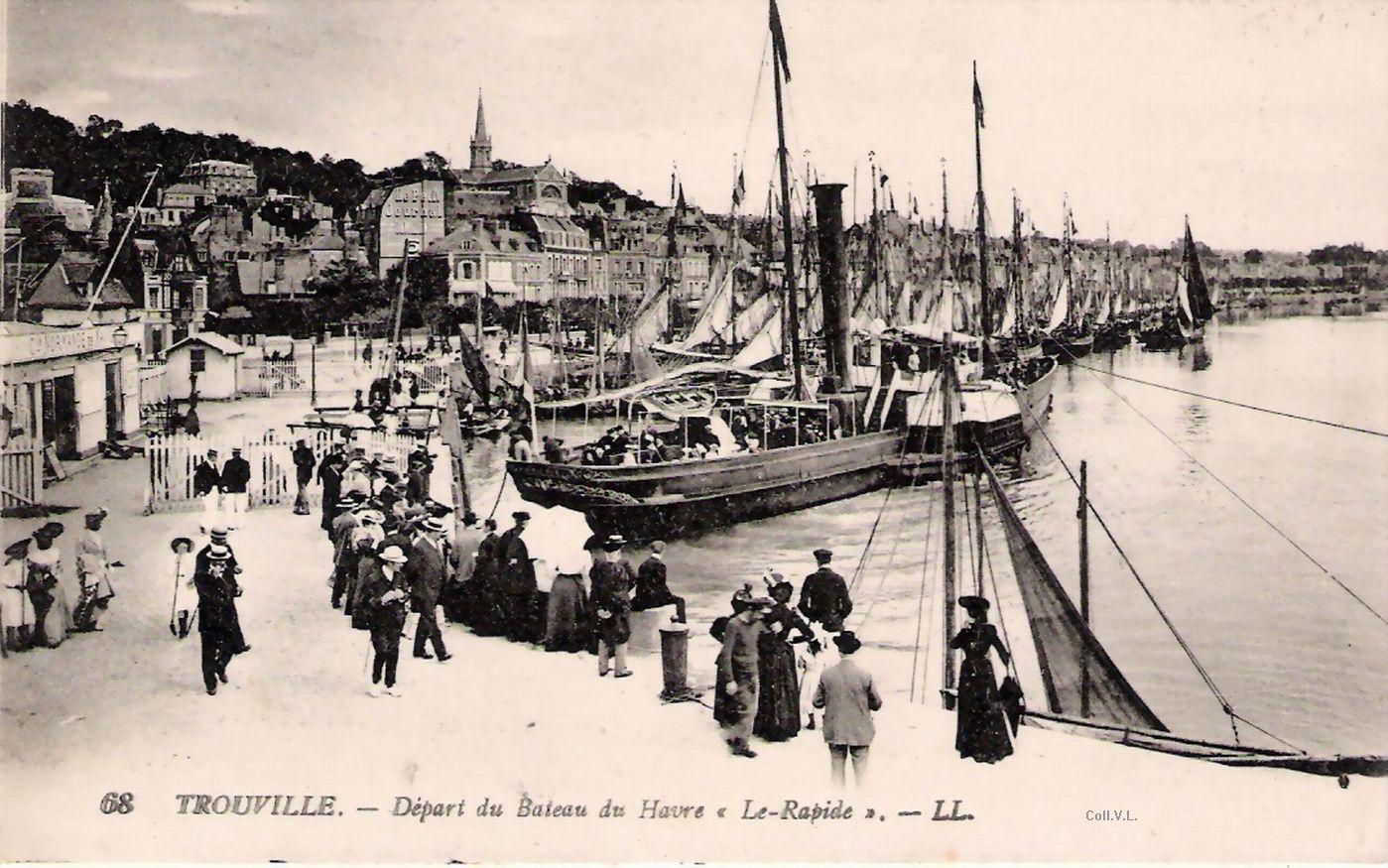 LL 68 Départ du bateau du Havre le Rapide
