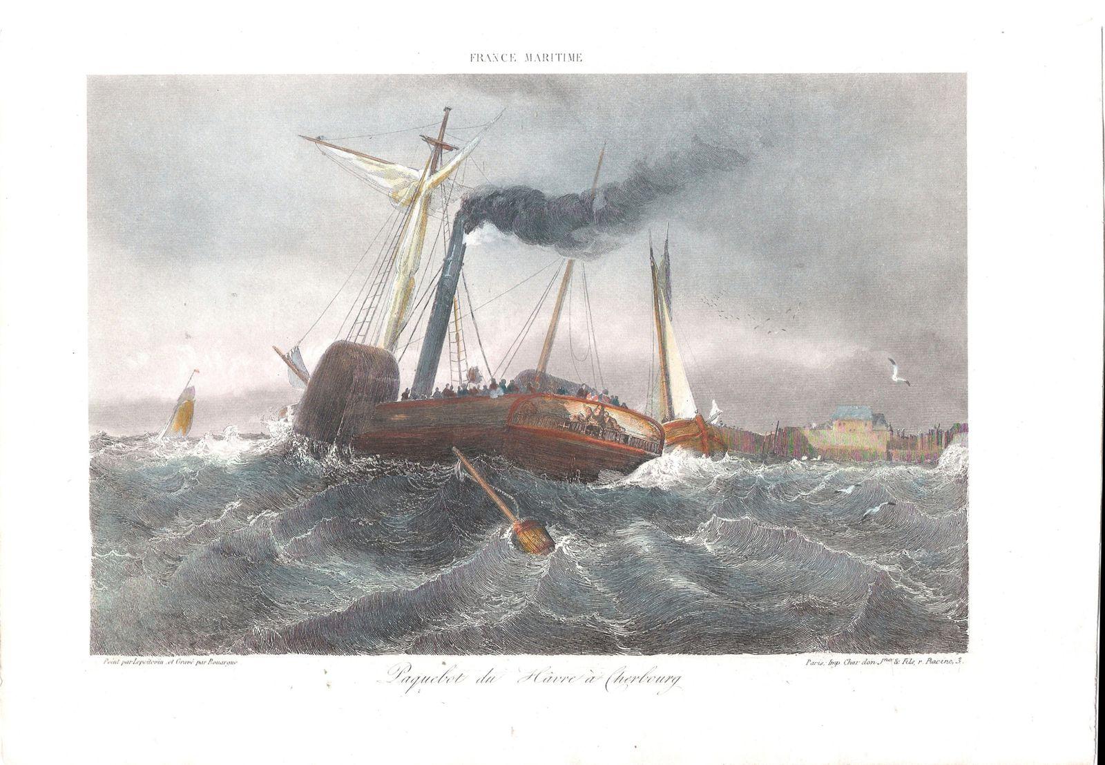 Paquebot du Havre a Cherbourg  (Navire non identifiè)