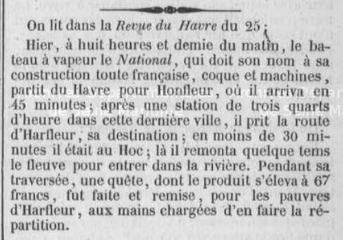(journal de Rouen 26 septembre 1839)