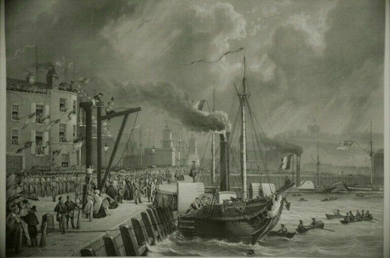 Embarquement de Louis Philippe pour l'Angleterre (source musées nationaux)