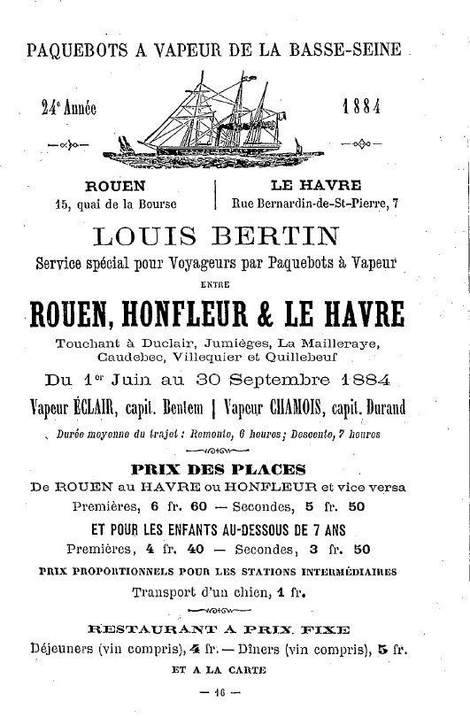 Insert dans un annuaire de 1884