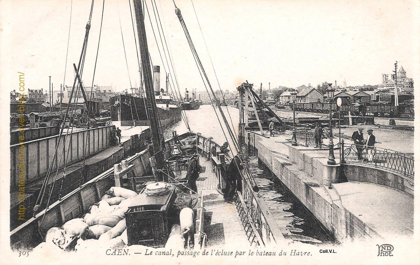 le bateau s'engage dans la bassin St Pierre