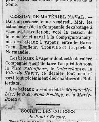 Journal La Plage de Trouville 1884 via Les Archives du Calvados