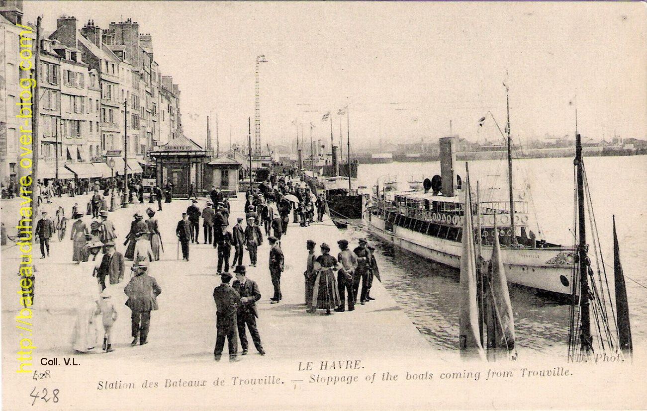 Le Trouville le long du Grand Quai du Havre vers 1910