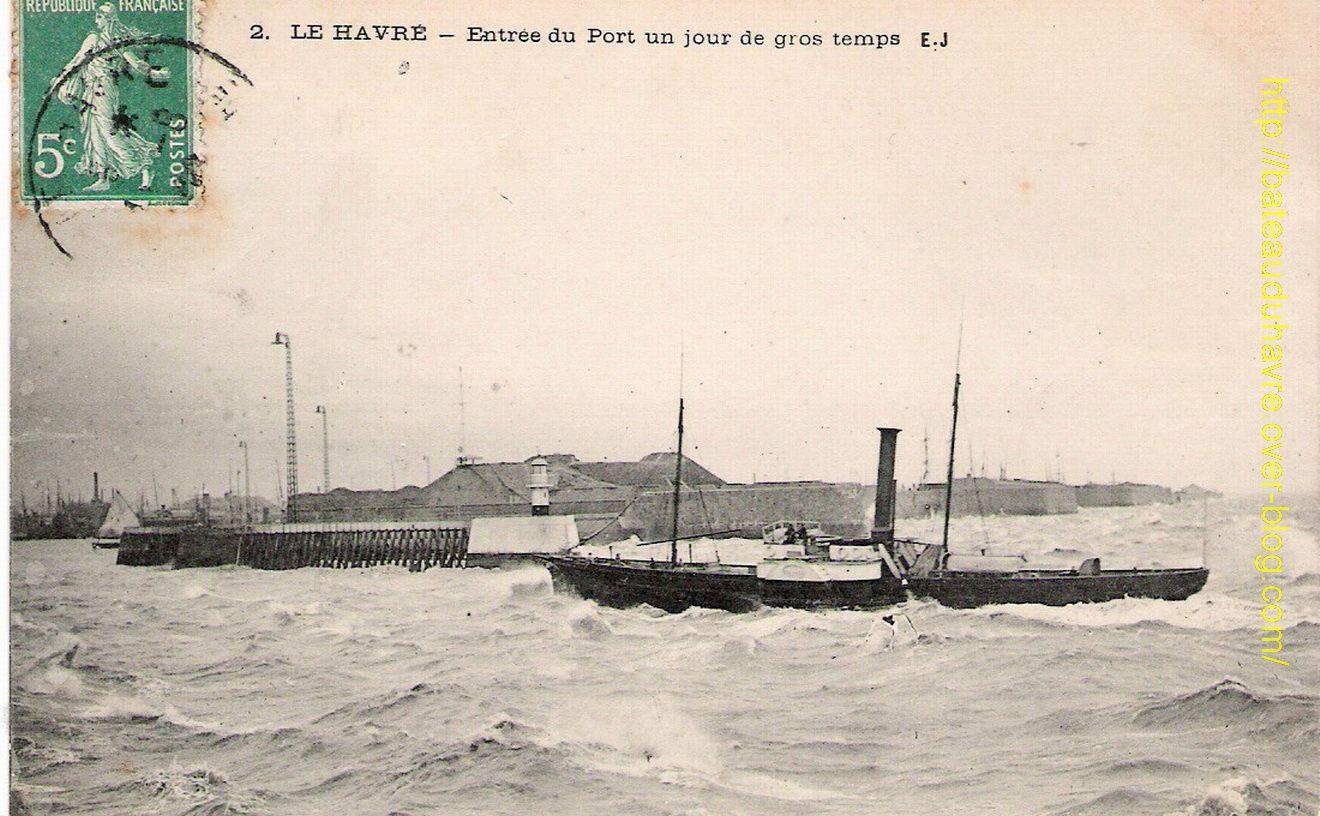 Agrandissement de l'avant-port du Havre