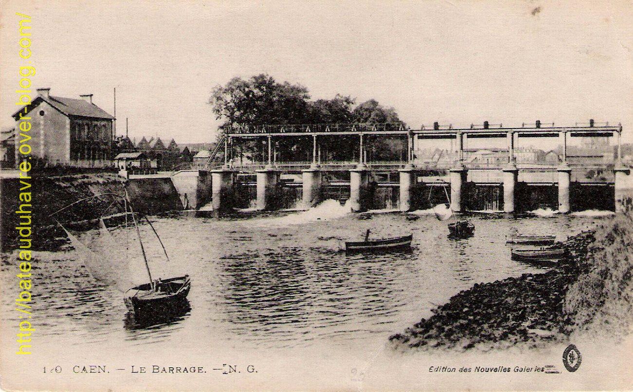 Le barrage en aval de Caen