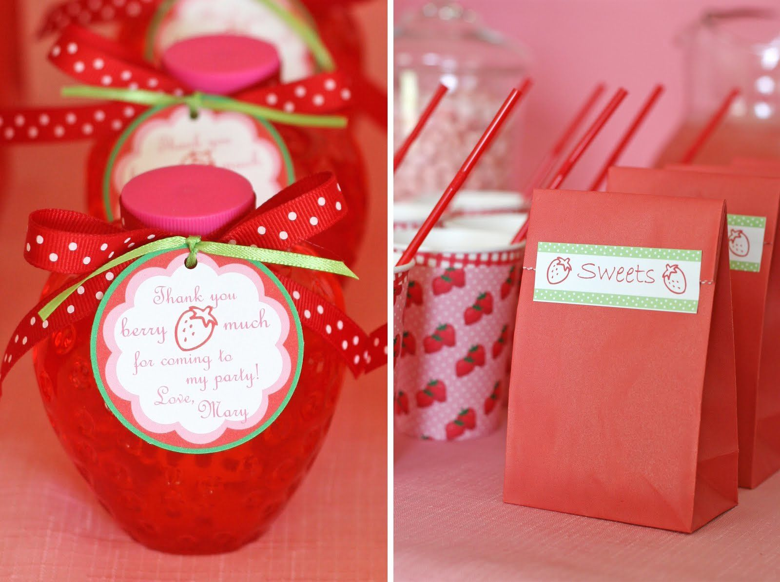 Sweet table : Sweet Strawberry Party