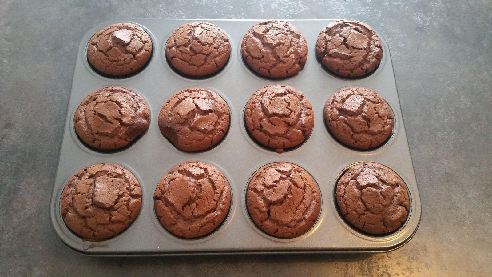 Muffins chocolat moelleux, aérés, délicieux !!!