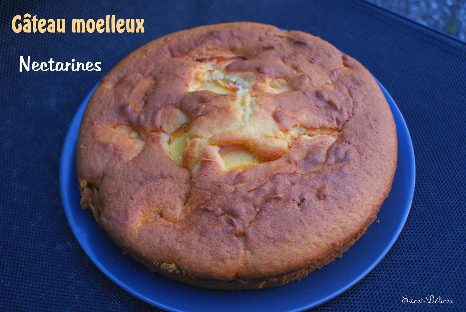 Gâteau moelleux aux Nectarines - Thermomix