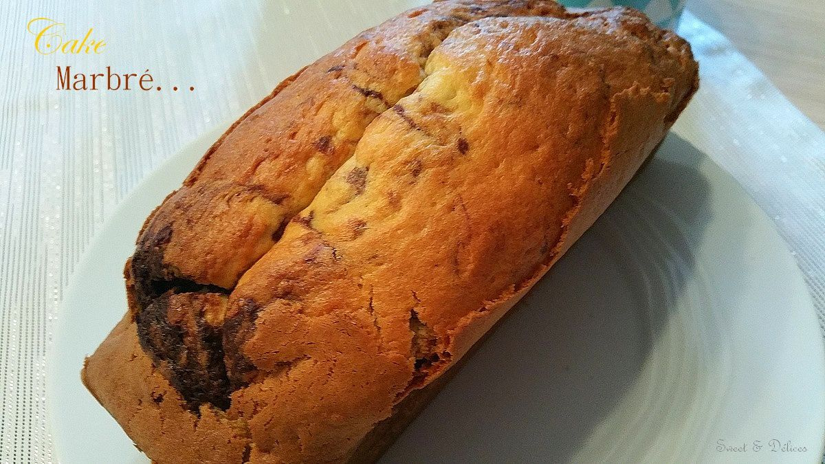 Cake marbré au chocolat à base de crème - Thermomix