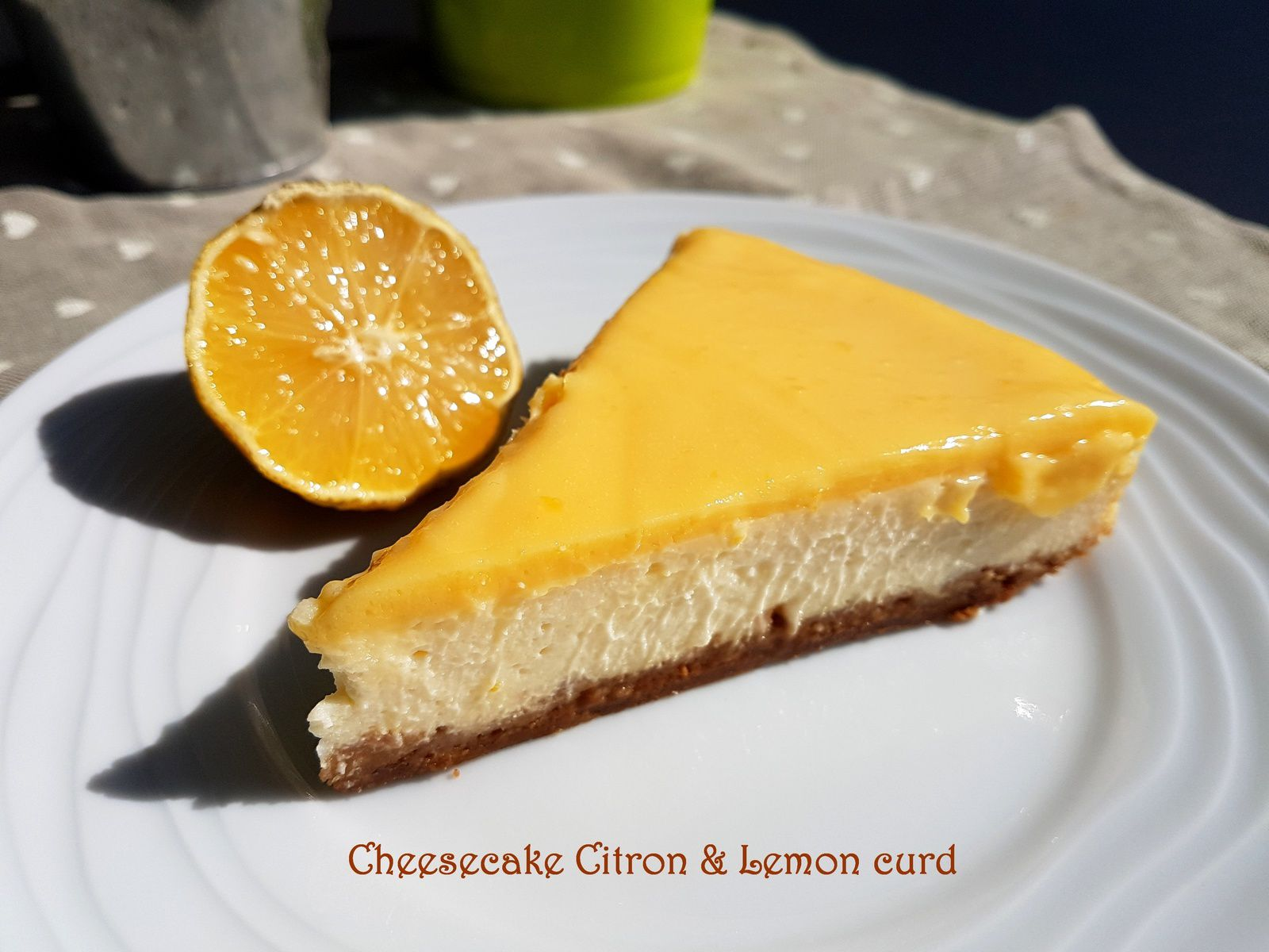 Cheesecake au citron et lemon curd thermomix sweet d lices - Trouver une conseillere thermomix ...