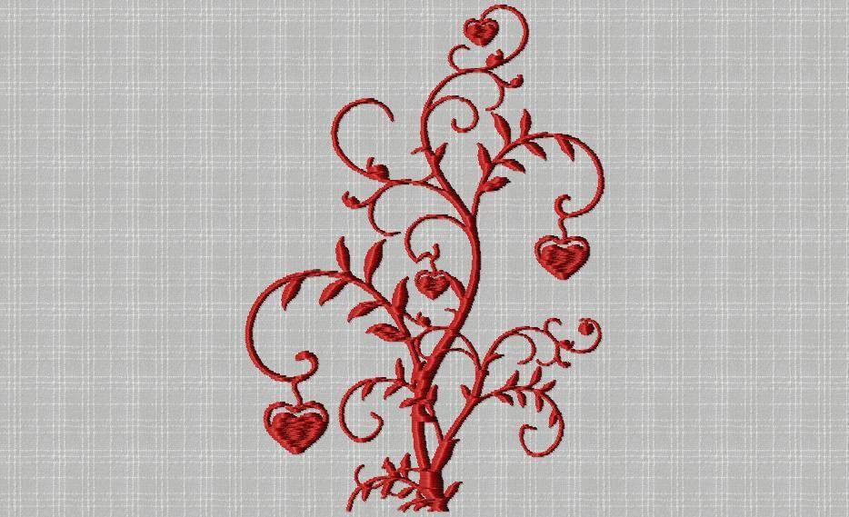 arbre à cœurs