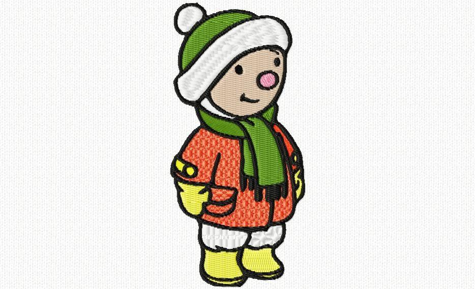 habillé pour le froid
