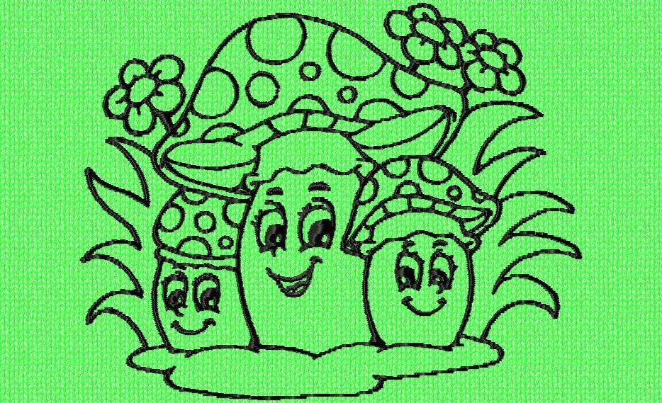 des petits champignons