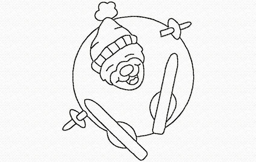 un skieur en boule