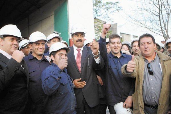 Avec les travailleurs uruguayens, 7 mai 2013