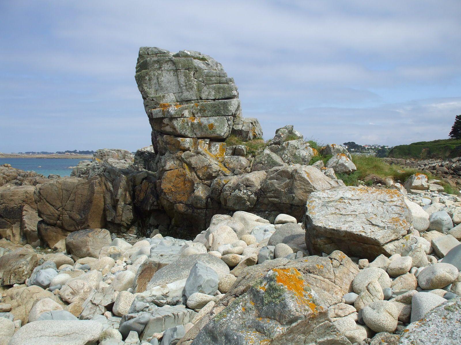 Dolerite dans les rochers de Trestel à Trévou-Tréguignec