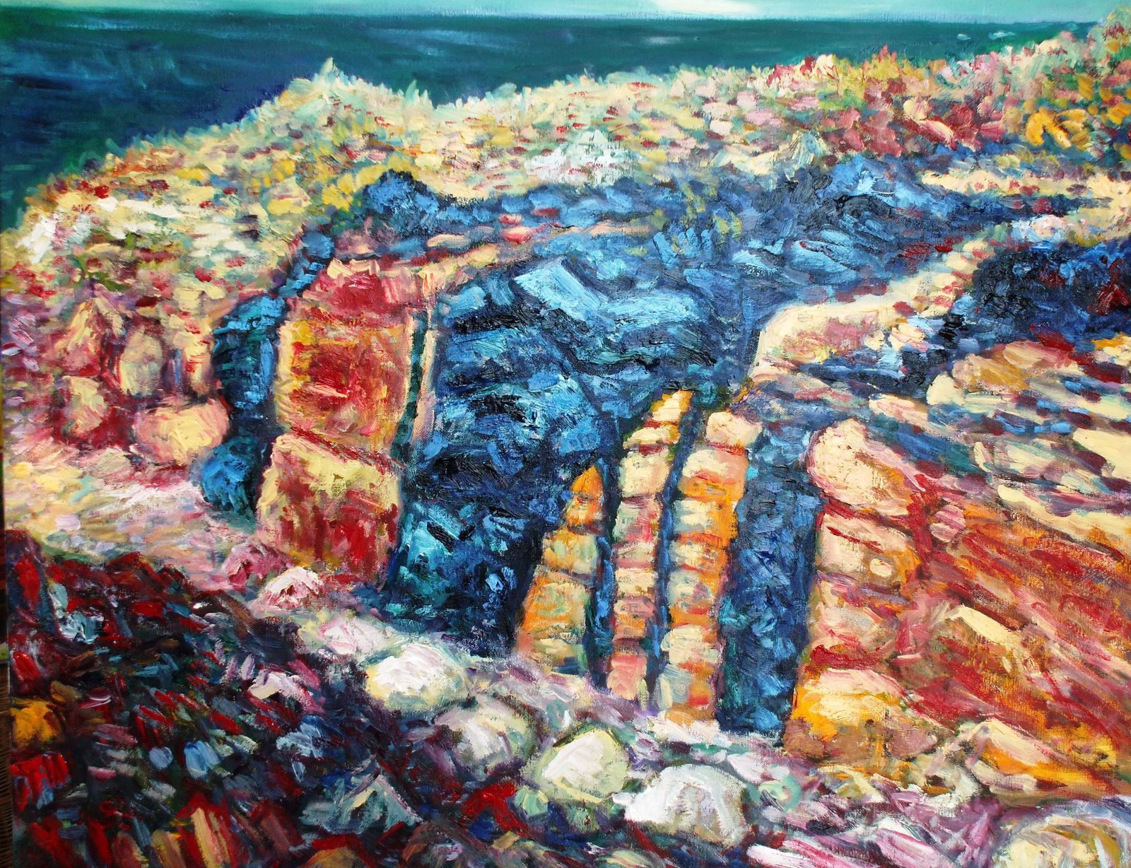 Geology paintings : Les formations de Plougrescant