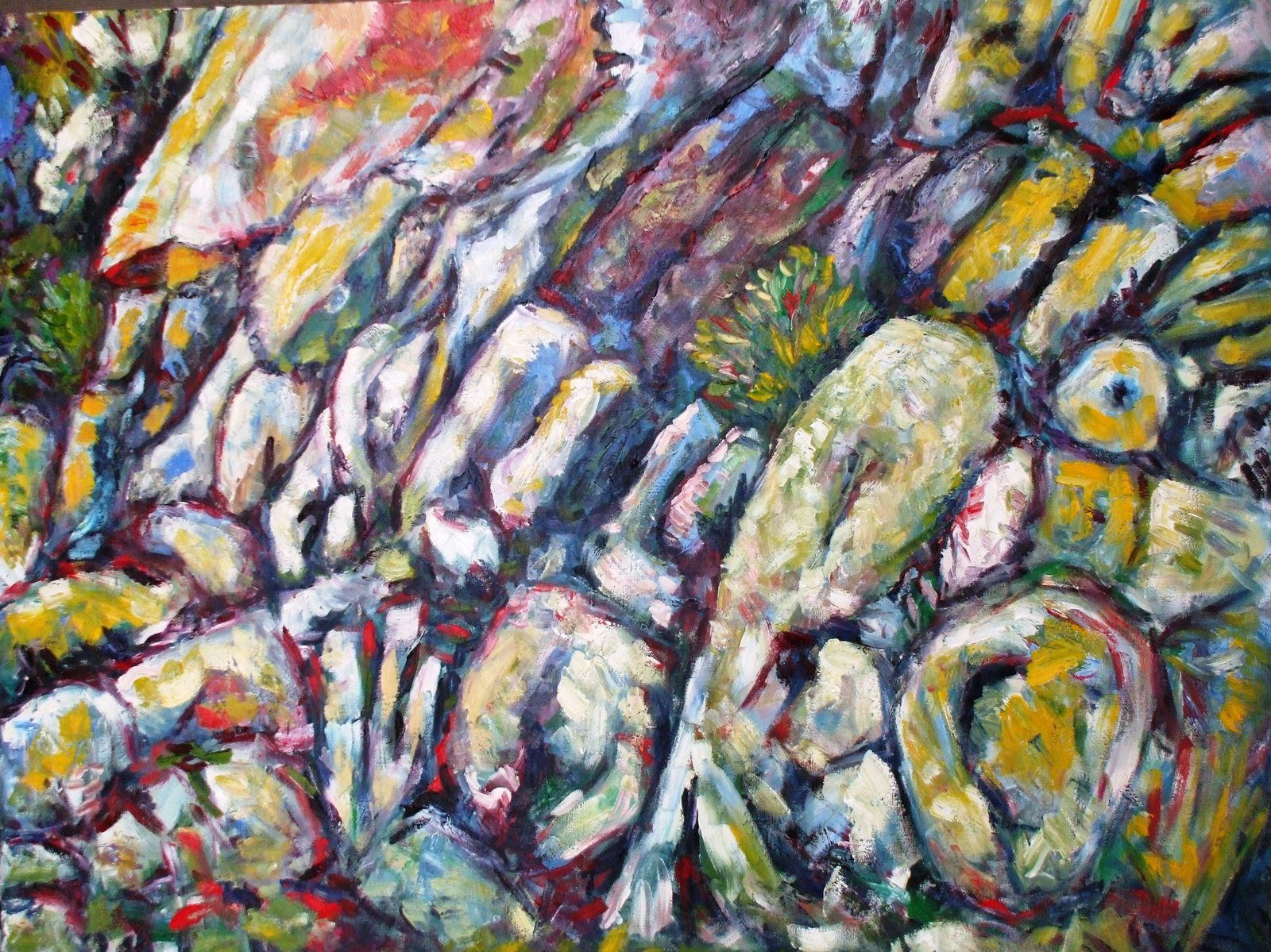 Geology painting : Les pillow-lavas de Guilben à Paimpol