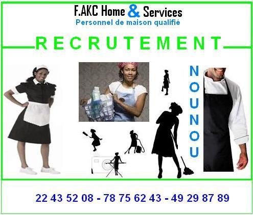 Formation et recrutement du personnel de maison for Agence de recrutement pour personnel de maison
