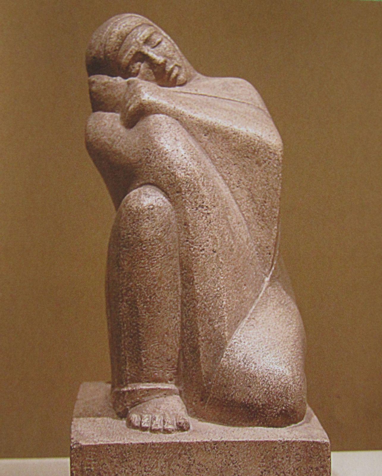 Statue d'Itet. Nouvel Empire.XIX ème dynastie et La Sieste par Mahmoud Mokhtar. 1928