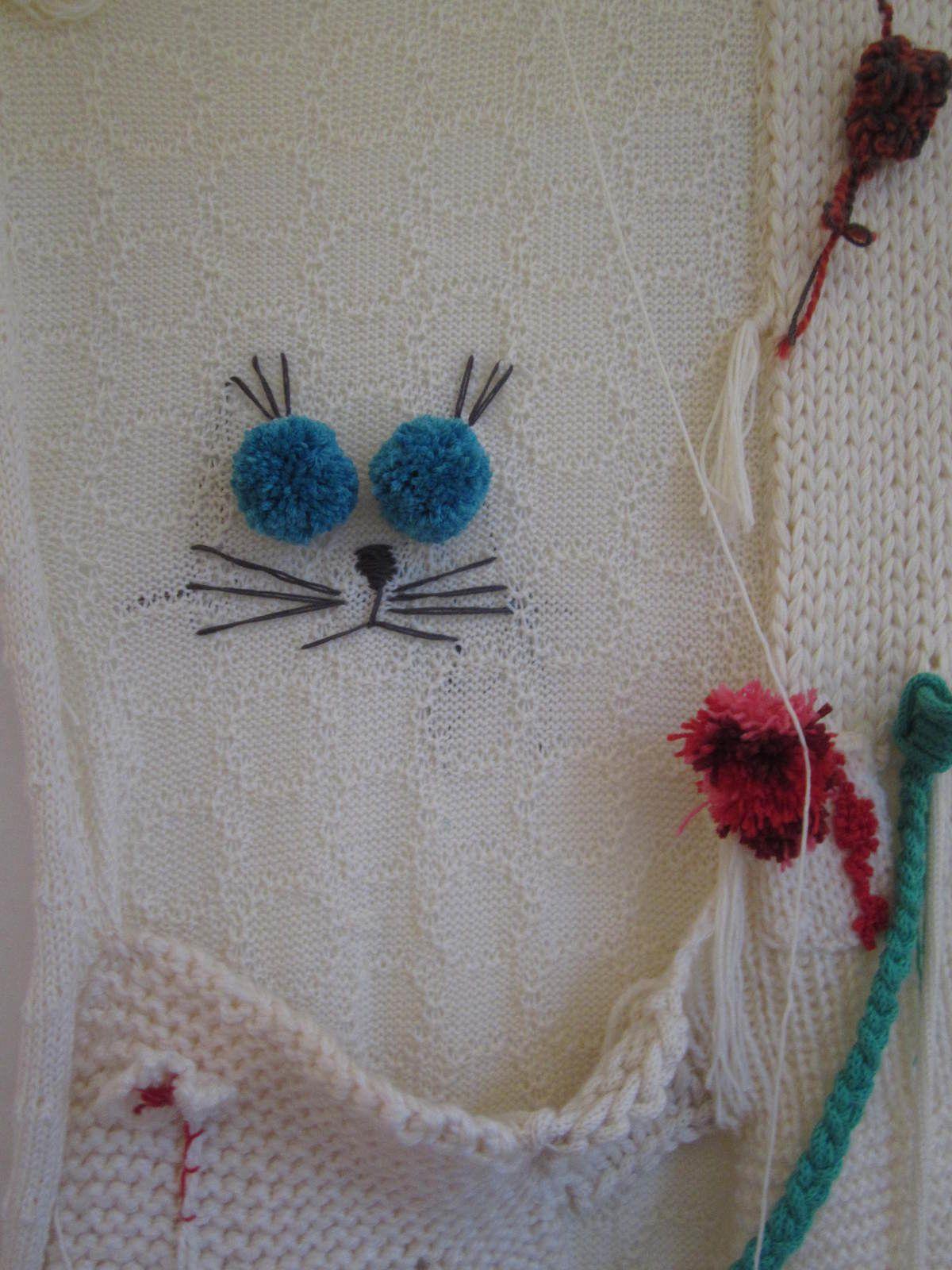La Souris de Françoise... et mon chat aux yeux de pompons ....