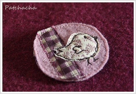Des broches pour les coquettes , petits bijoux de PATCHACHA.