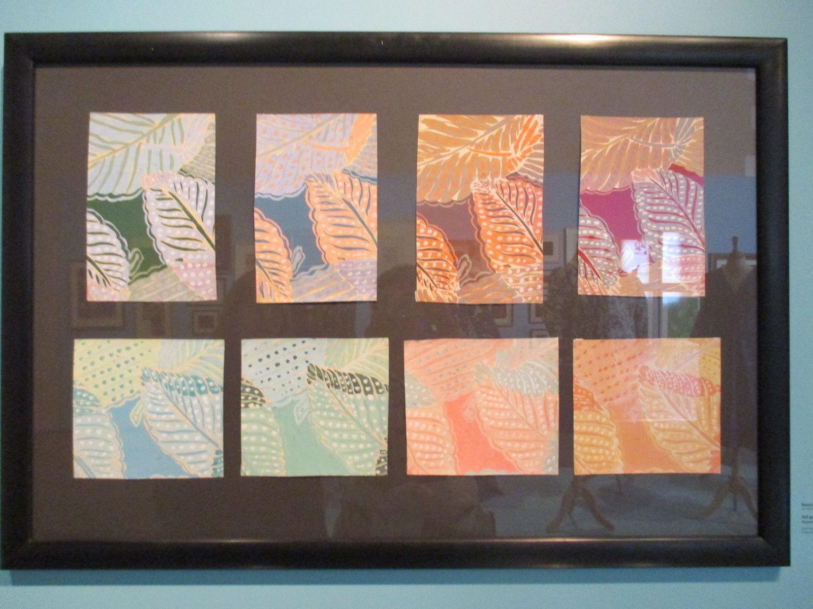 Planches pour l'étude de création de tissu par Raoul DUFY.