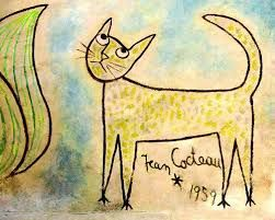 Il aimait les chats ...et les félins- Une de ses oeuvres  Sommeil Hollywoodien , datant de 1953