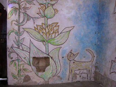 ..Les Simples - plantes médicinales cultivées depuis le Moyen-Age - sont peintes par J.Cocteau.