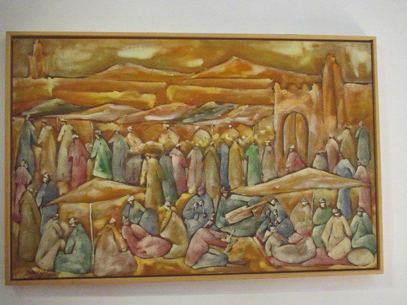 La collection est riche, plus de cinquante artistes marocains y sont présents.