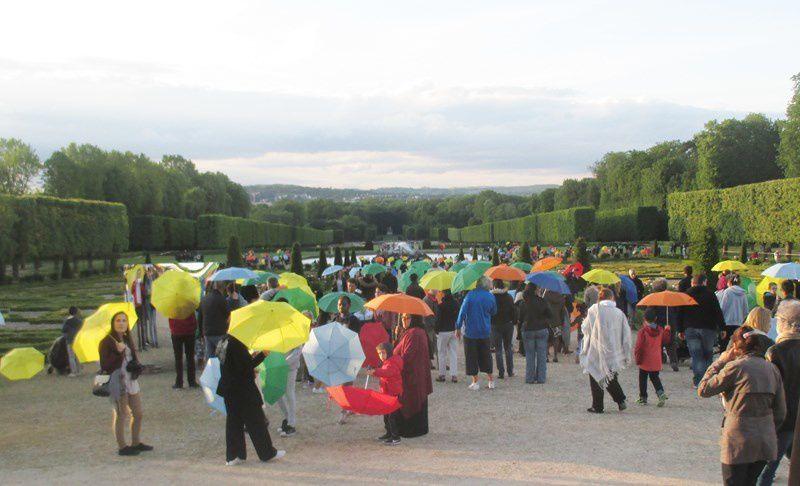 Il y avait beaucoup de monde dan le parc !!!