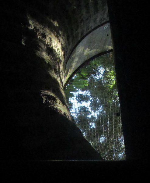 La navigation commence sous la voûte souterraine , longue de 2 km. Des oculi permettent à la lumière d'éclairer ce canal souterrrain