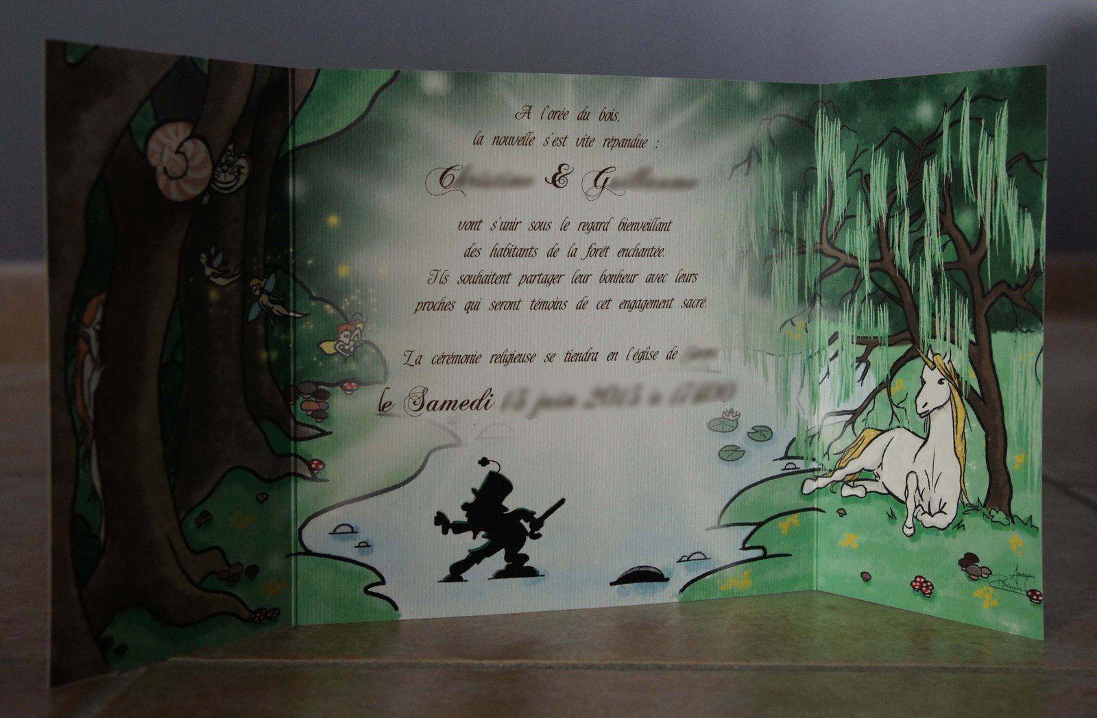 *FAIRE-PART* Jolie virée dans la forêt enchantée