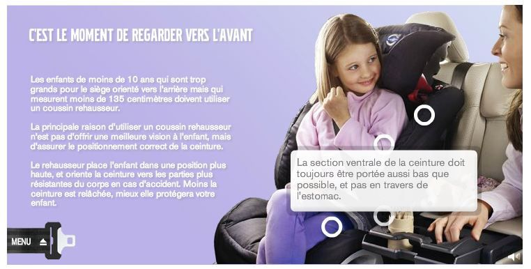 On reconnait le Römer Kidfix (grp 2/3)