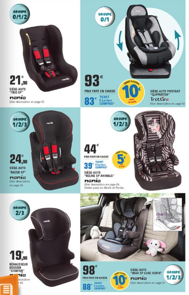 Le mois du Bébé en Grande Surface, promos sur les sièges-auto   FAUX ... 3a57700eb17e