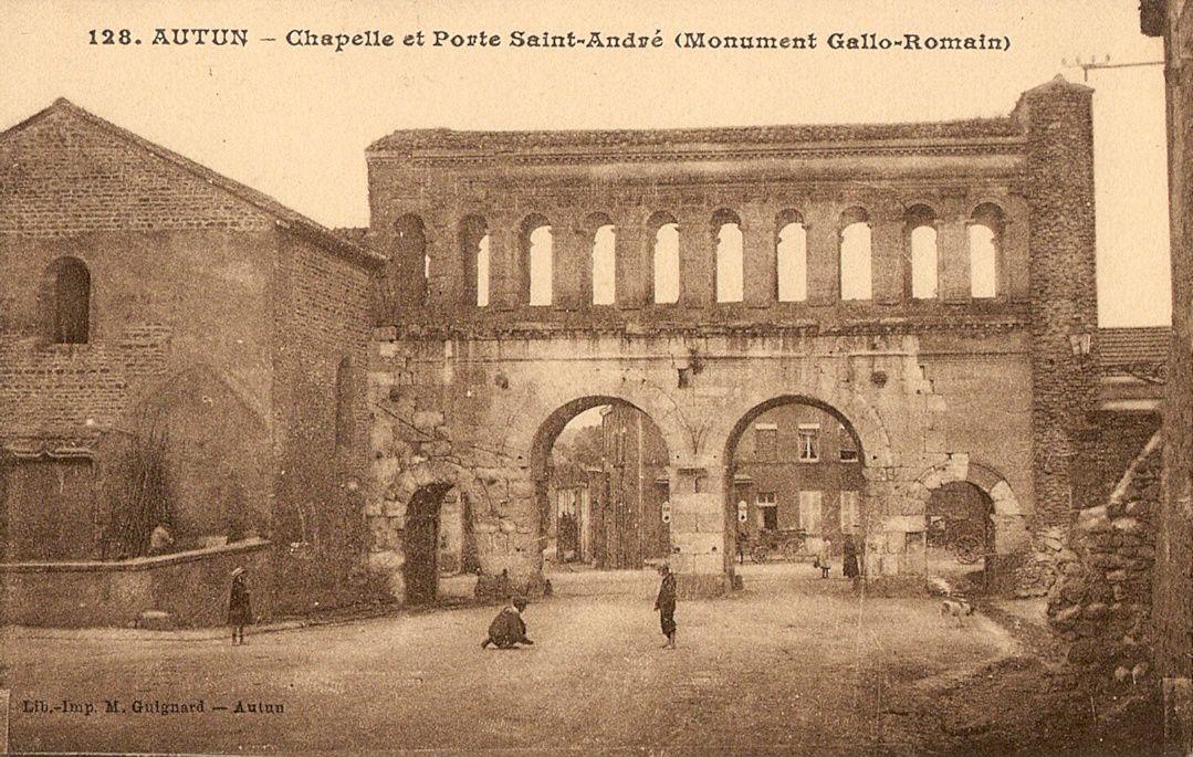 Porte Saint-André - Ville gallo-romaine - Autun 71400.