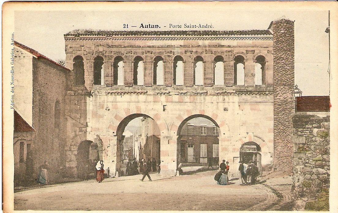 6 nouvelles cartes sur la porte Saint-André (côté intérieur). Edifice romain élevé vers l'an 69 de notre ère.
