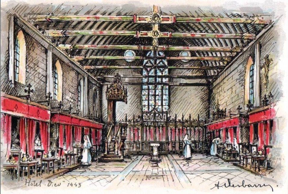Hôtel Dieu de Beaune - Différentes salles et divers.