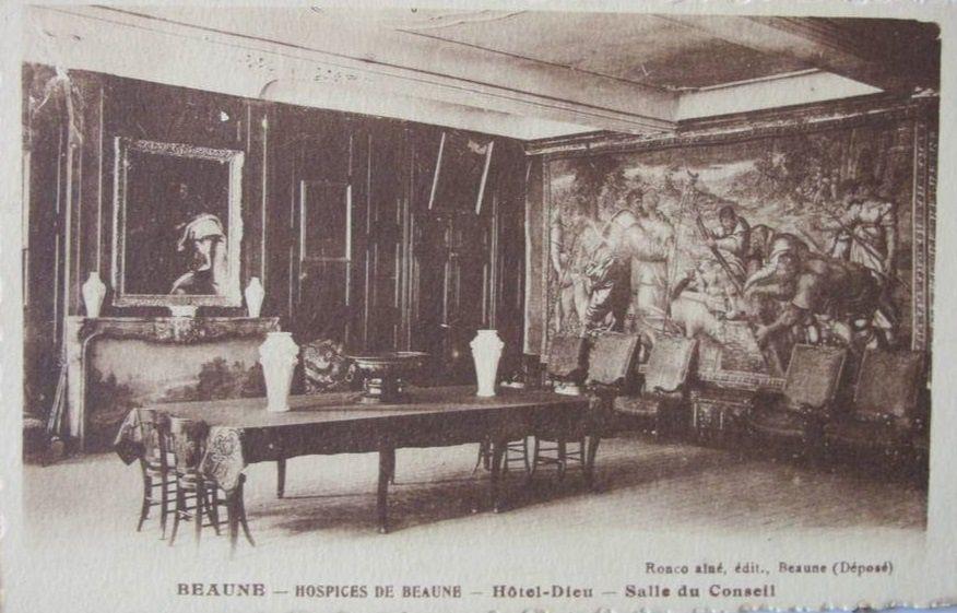 Hôtel Dieu de Beaune - Sacristie, Salle du Conseil, Apothicairerie et cave.