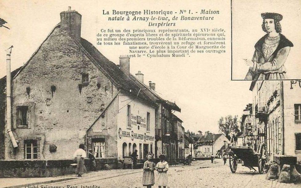 Sept CPA sur Arnay-le-Duc. Les deux première sur une porte gothique, suivie d'une sur la Tour de la Motte Forte et on termine par trois CPA diverses.