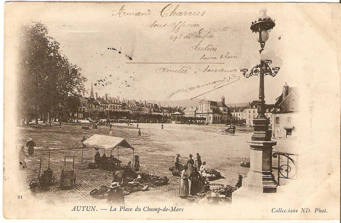 La Place du Champ de Mars - 71400 Autun.