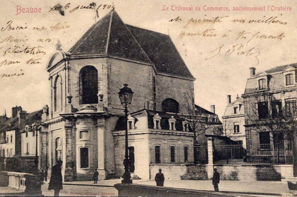 Rue de Lorraine à Beaune - Maison du XVIe siècle, église de la charité et ancienne chapelle de l'Oratoire.