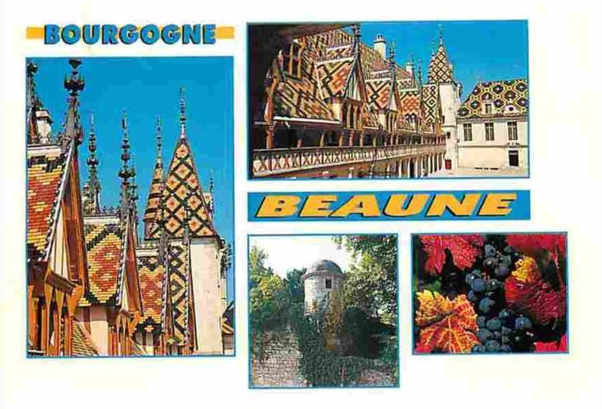 20 cartes postale multivue de Beaune !