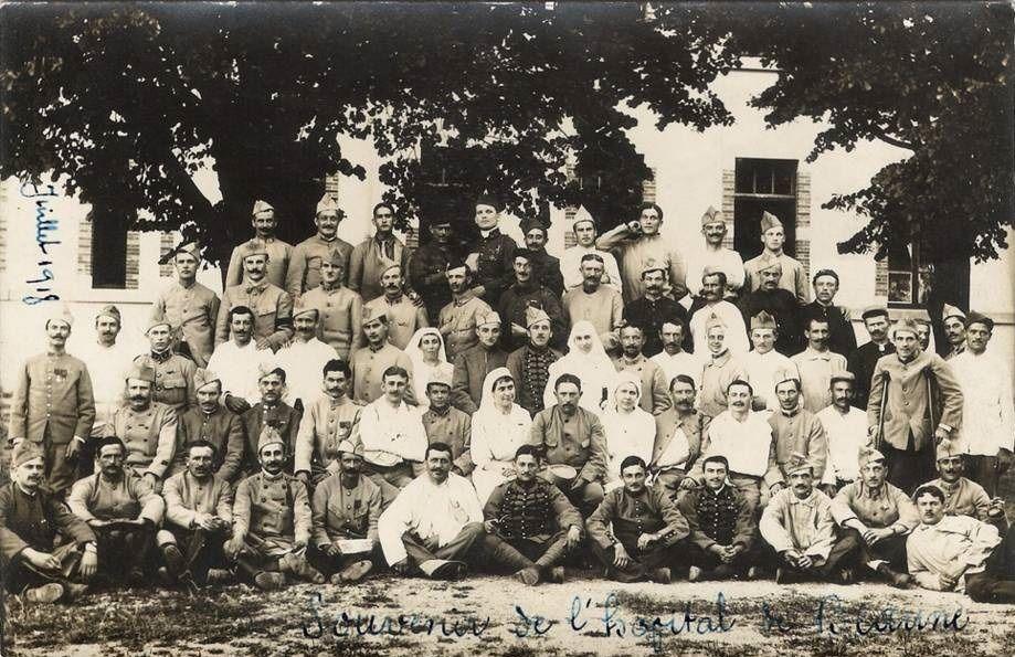 Camp des américains ou université américaines (8 cartes), hôpital de guerre 14-18 (3 cartes) et Monument aux Morts 1914-18 (3 cartes) - Beaune.